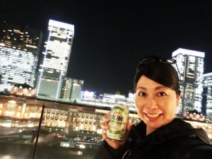 東京の新丸ビル7階テラスからかんぱ~い♪♪